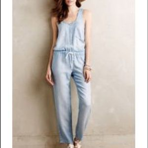 07d13f38e210 CLOTH AND STONE Pants - CLOTH AND STONE JEAN JUMPSUIT CHAMBRAY SZ SMALL